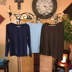 Bundle 3 Long Sleeve T-Shirts